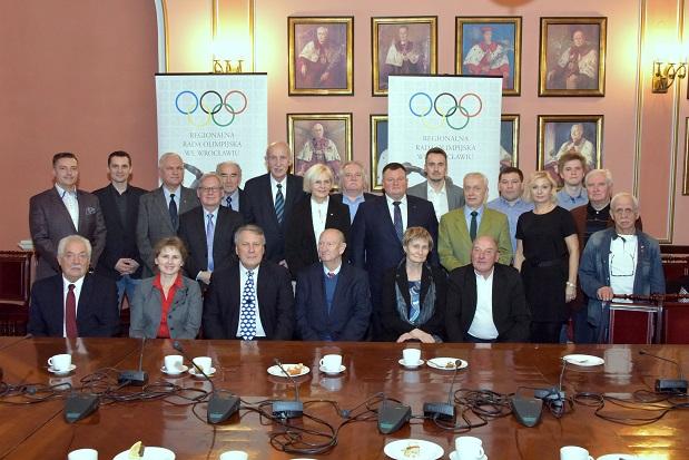 2016 » Uroczyste Spotkanie Zarządu Regionalnej Rady Olimpijskiej z Władzami Uniwersytetu Wrocławskiego z okazji 15-lecia współpracy 25.11.2016